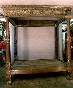 BAROQUE CARVED BED REPAIR