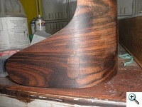 Rosewood veneer inlays necessary after broken ear repair, prior to touch-up