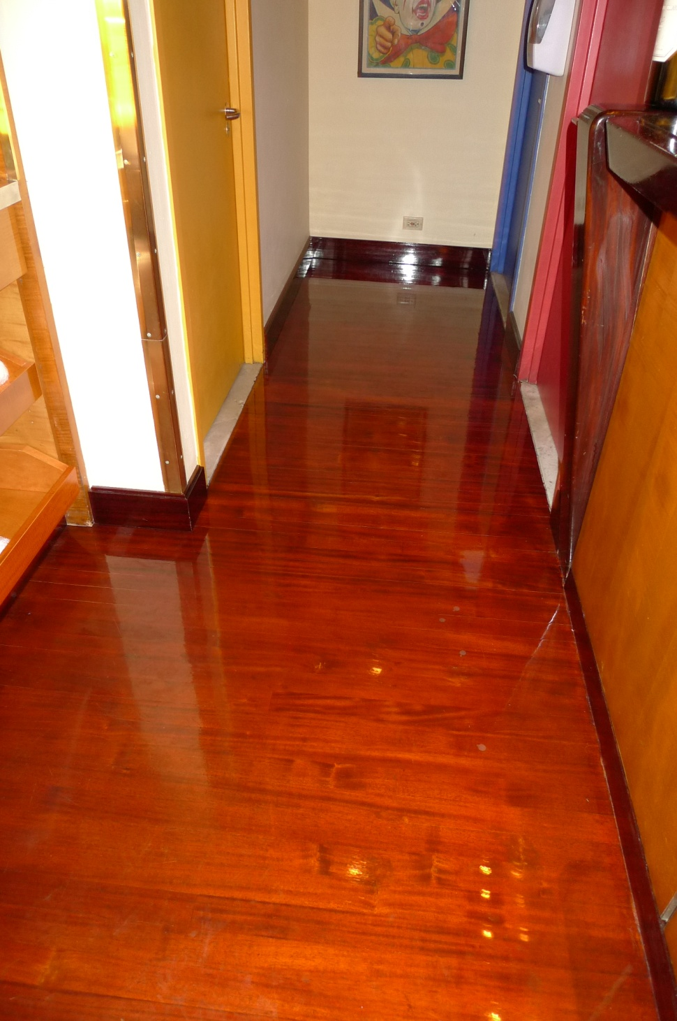 New Mahogany Floor custom milled, installed and finished