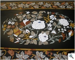 Stone marquetry (pietre dure) table after- table is smooth, inlays stabilized