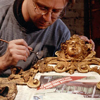 George I. Period Mirror Gilding Conservation