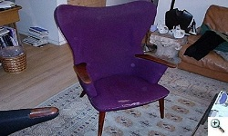 Hans Wegner- Mama Bear chairs before reupholstery