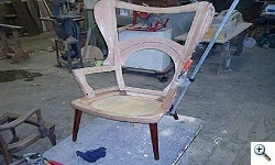 Hans Wegner- Mama Bear chair during reupholstery
