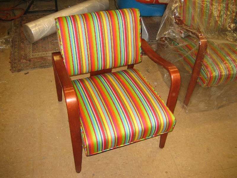 Chair Before Refinishing And Reupholstery, Modern Chair After Furniture  Refinishing And Reupholstery
