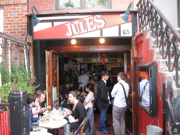 All Jules Bistro's millwork, cabinetry, doors, and windows were built from salvaged wood