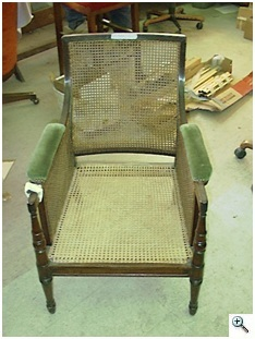 Early 19th Century Regency Chair Re-Caned, Blind Caning required