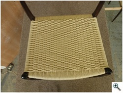 Danish Cord Chair from top after caning