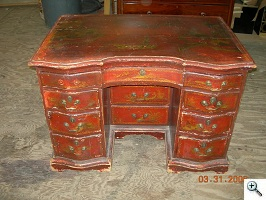 American Chinoiserie Queen Anne Desk before finishing