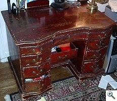 American Chinoiserie Queen Anne Desk