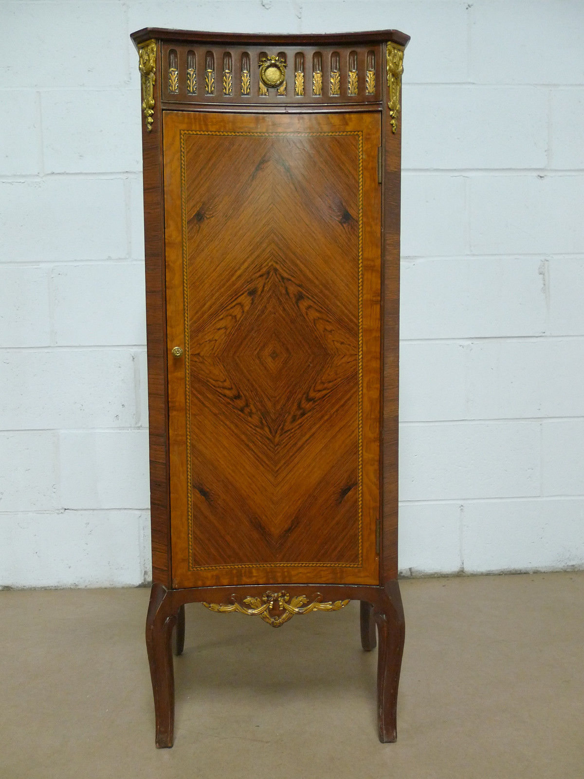 French Louis XVI style Rosewood Marquetry Cabinet Antique