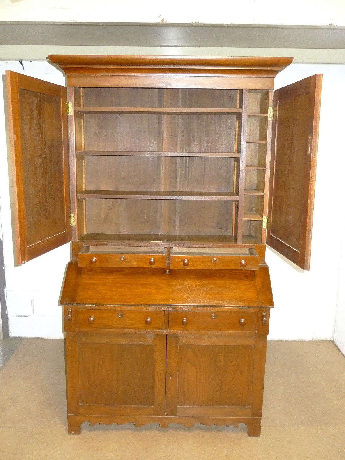 American Mission Roycroft Chestnut Secretary Bookcase Antique