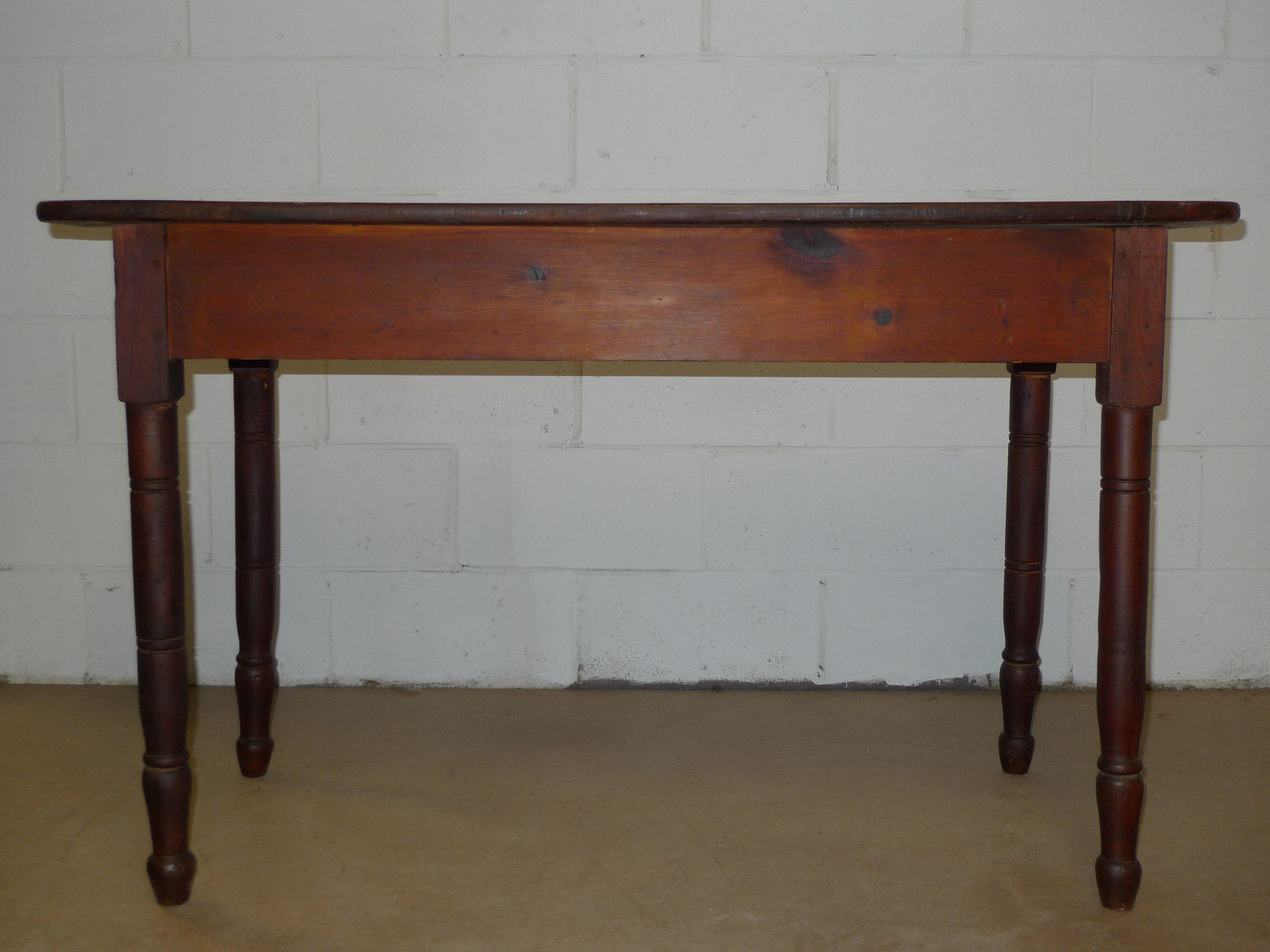 American Sheraton Period Knotty Pine Farmhouse Table Antique