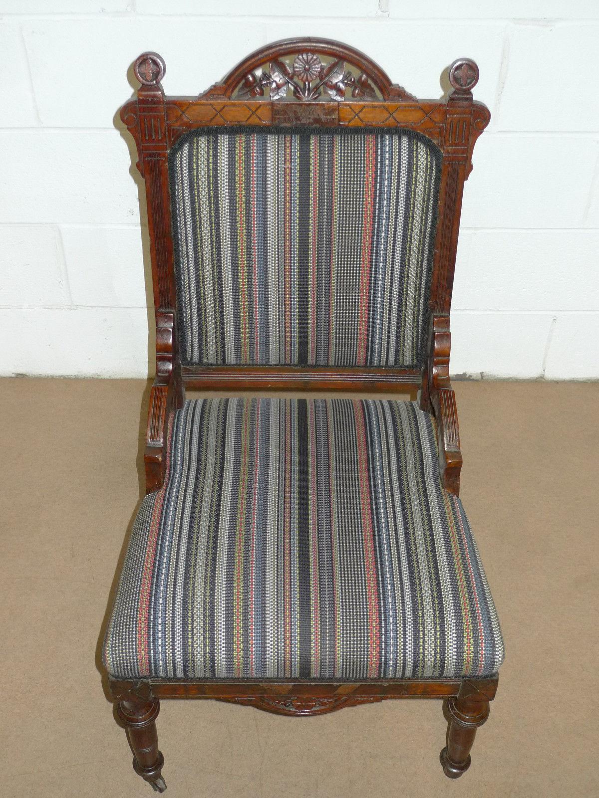 Victorian Period Eastlake 1800 1899 America Cherry Side Chair Victorian Period Eastlake 1800