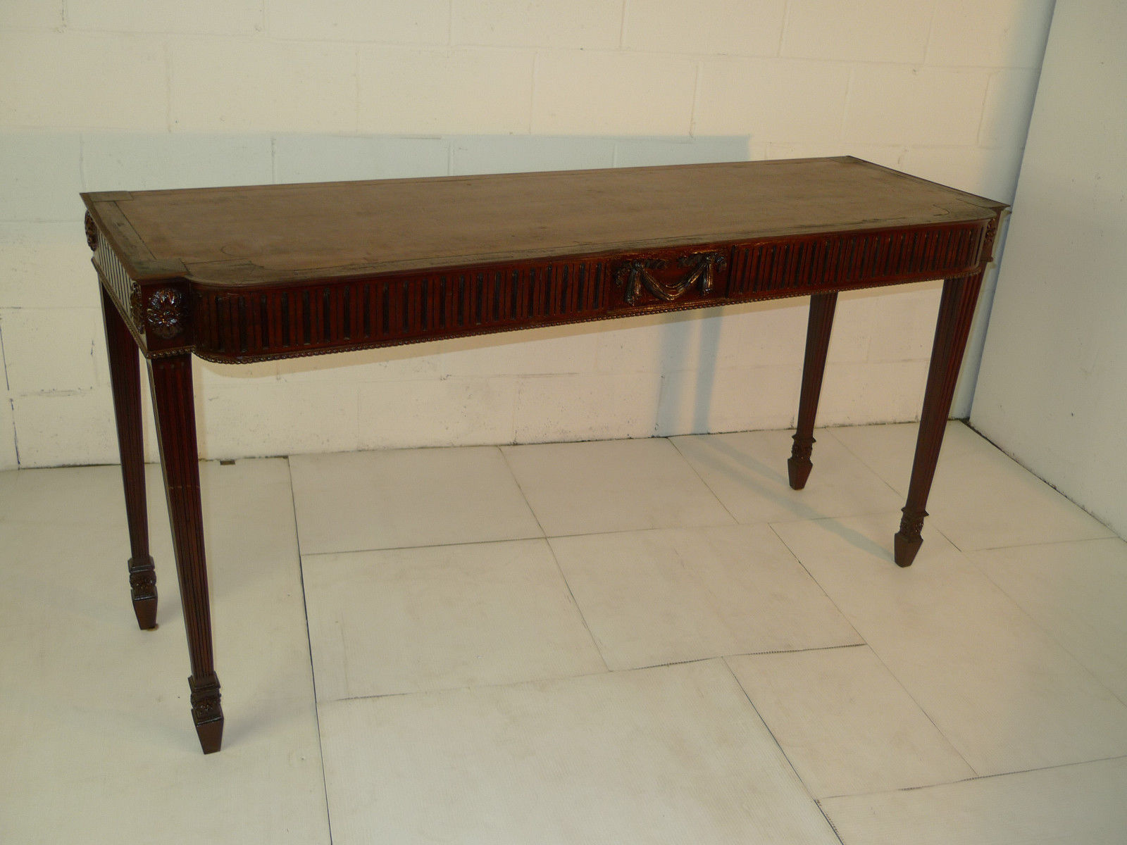 vintage sofa table chippendale style carved mahogany console sofa table 3257