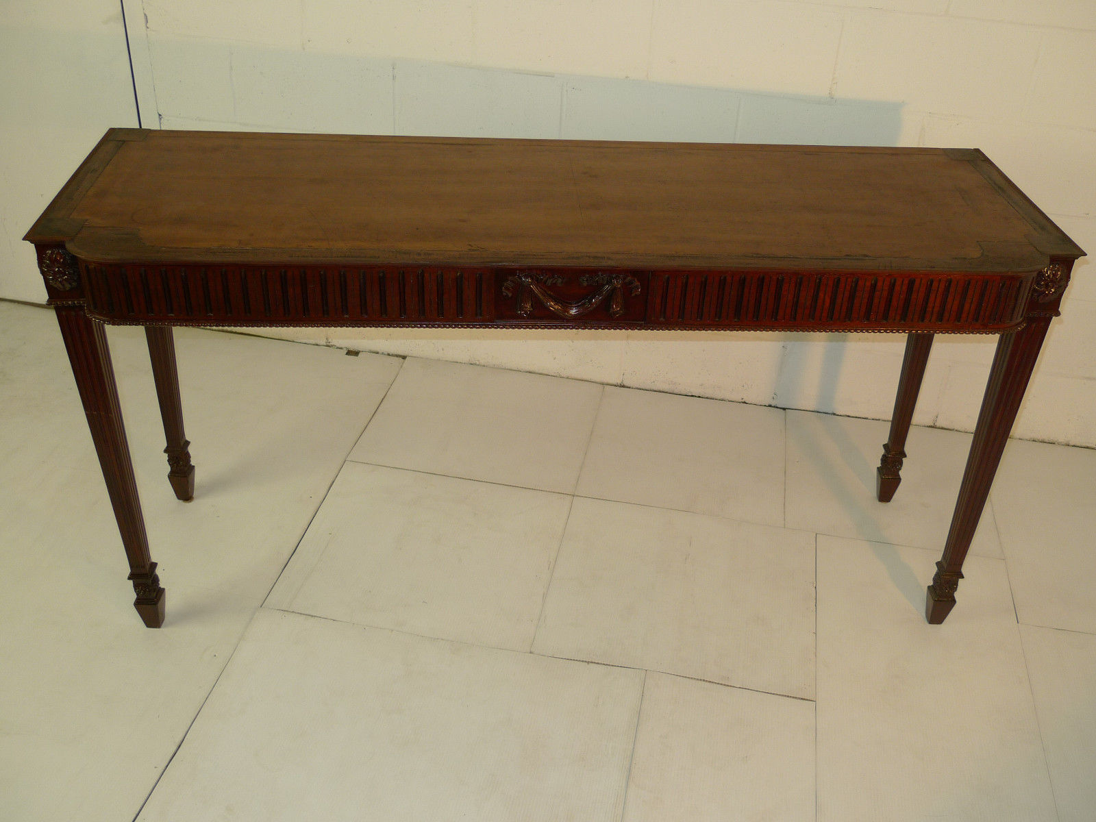 Chippendale Style Carved Mahogany Console Sofa Table Antique Chippendale Style Carved