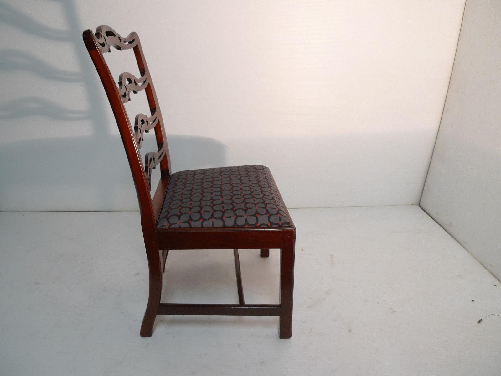 American Colonial Georgian Cherry Ladderback Side Chair