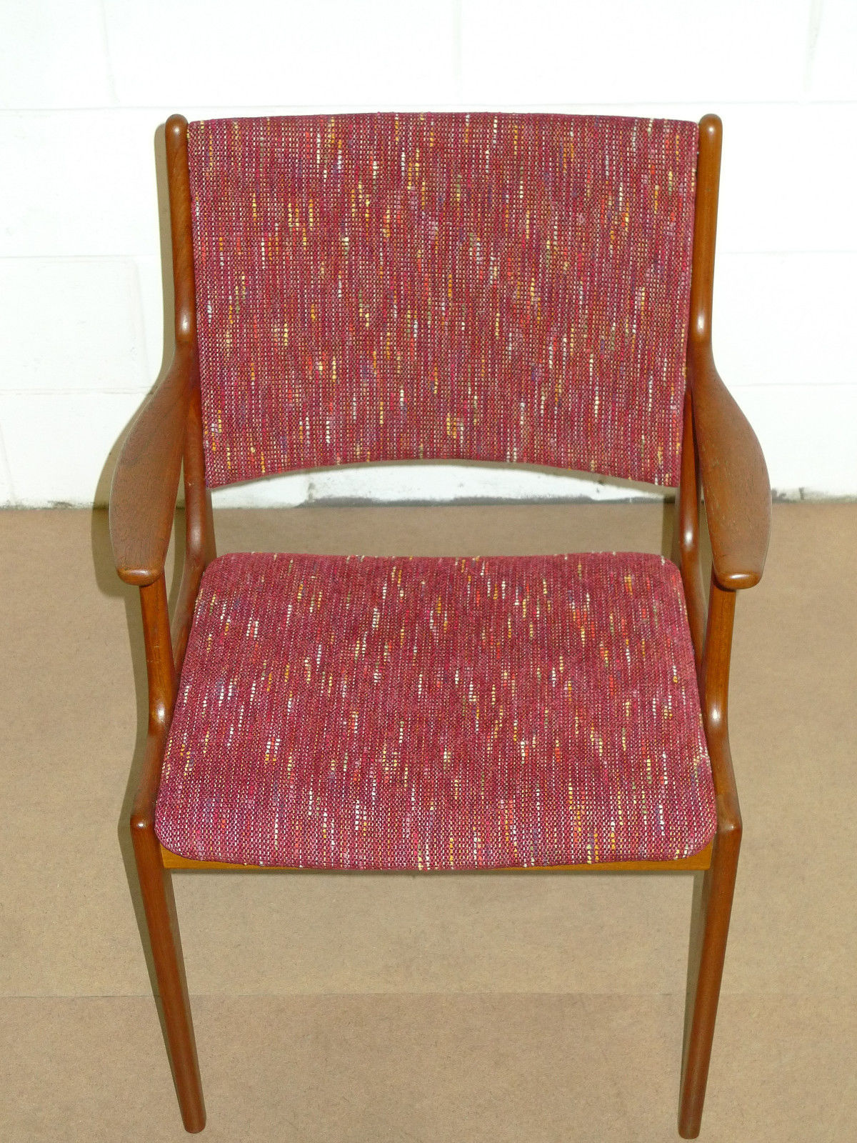 Danish Teak Mid Century Modern Arm Chair Modern Upholstered