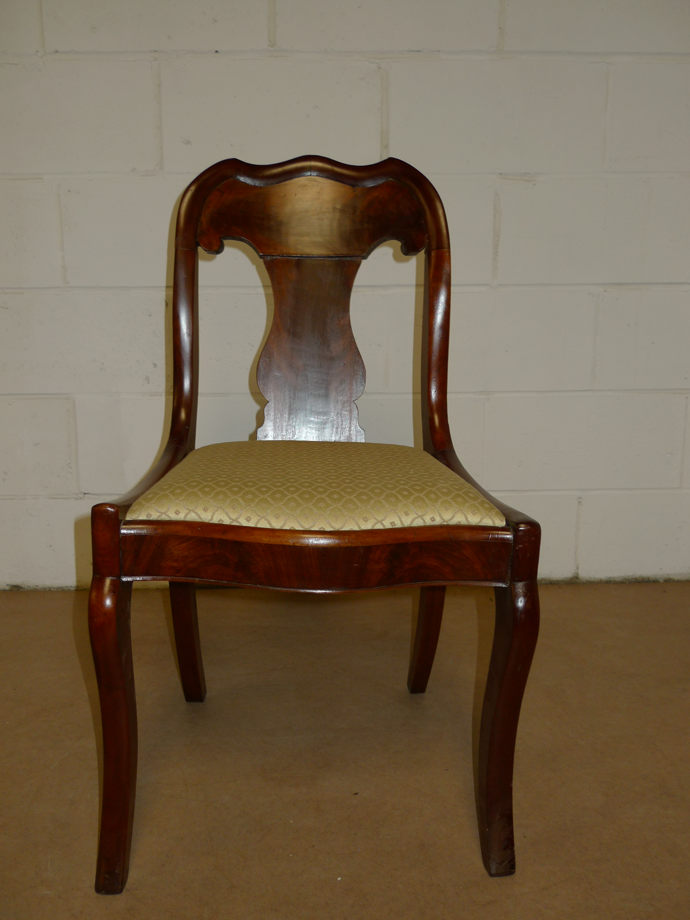 American Empire Off White Wooden Chair Antique 500 00