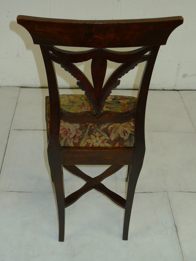 antique wooden chair with floral design seat cover 500