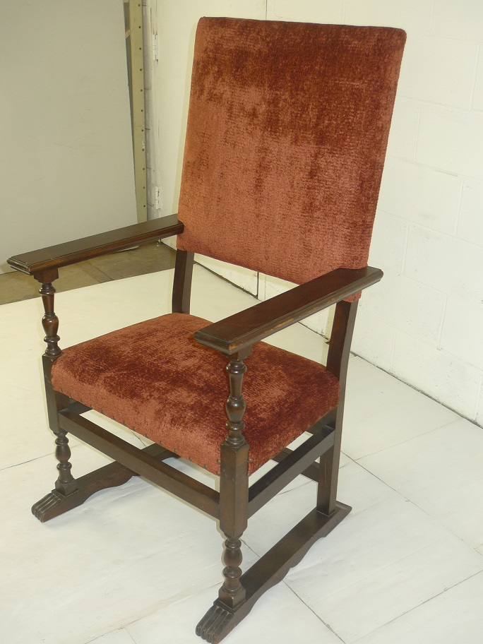 Antique Rust Color Wooden Chair