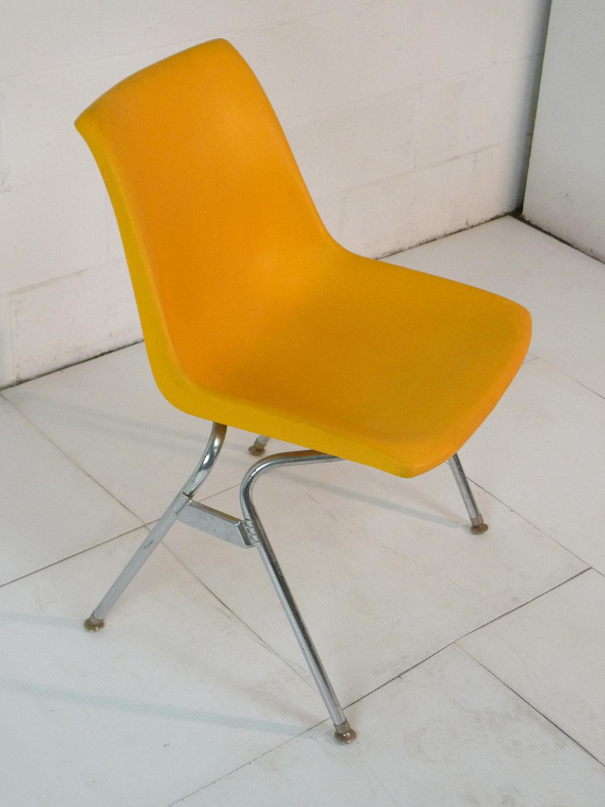 Yellow Plastic Mid Century Modern Eames Era 60 S Chair