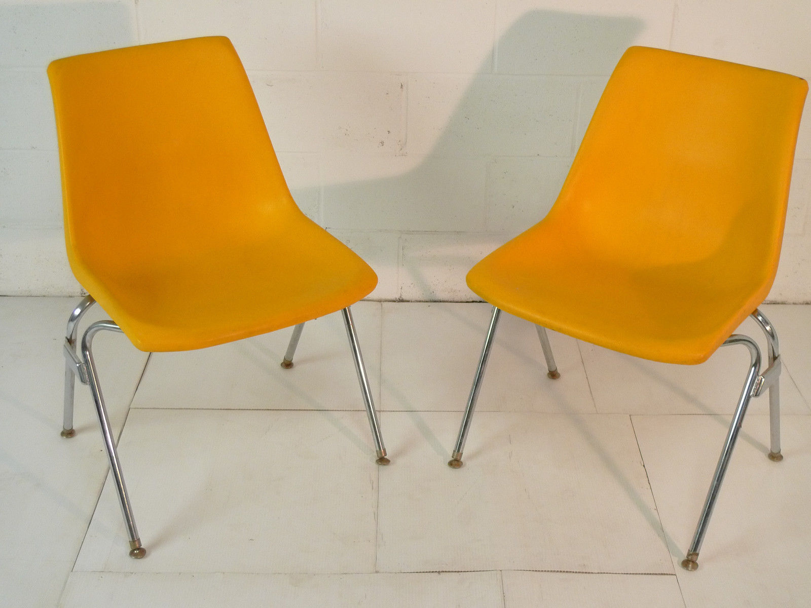 Yellow Plastic Mid Century Modern Eames Era 60 S Chair