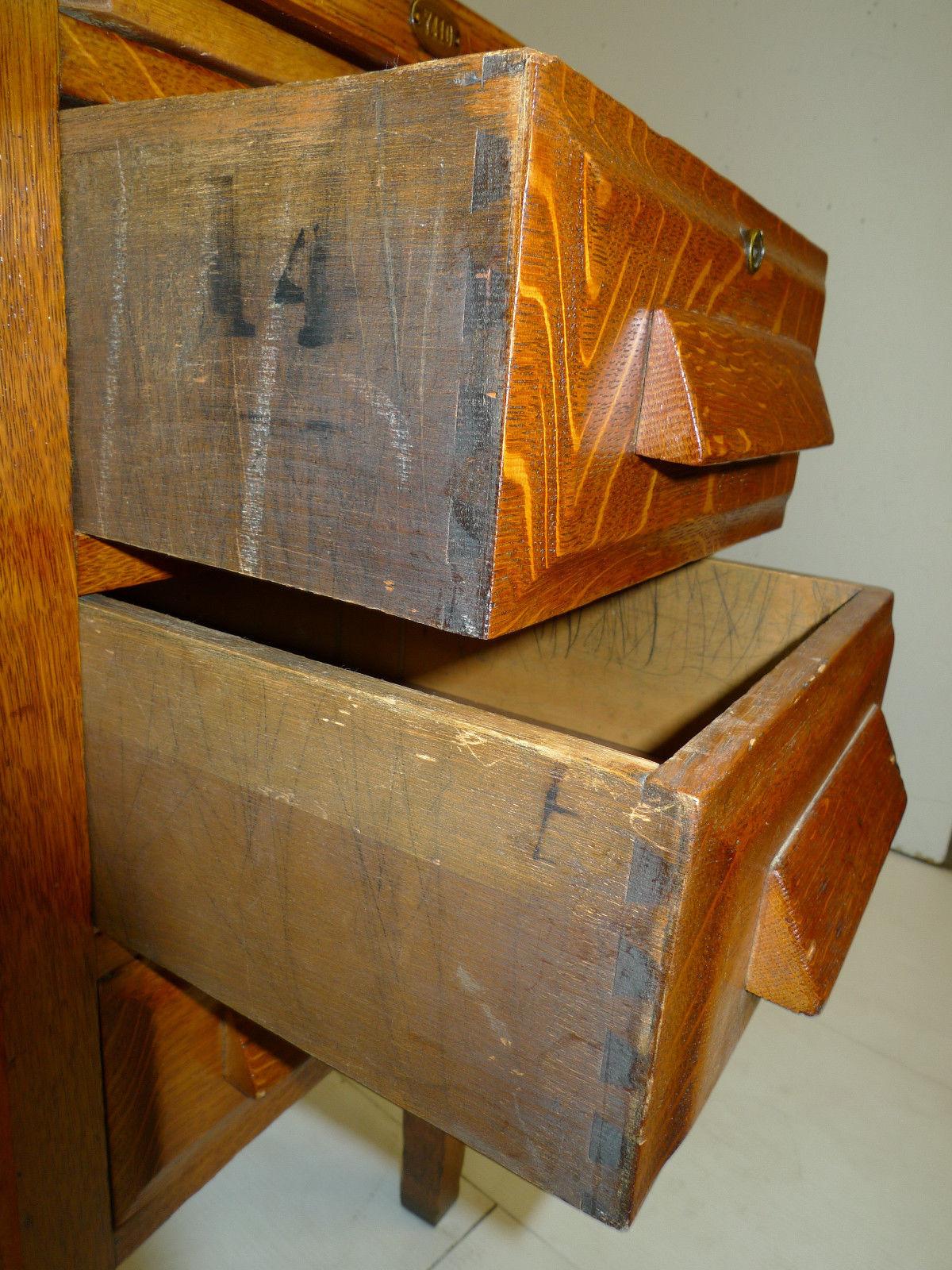 Mission Arts Amp Crafts Oak Secretary Single Pedestal