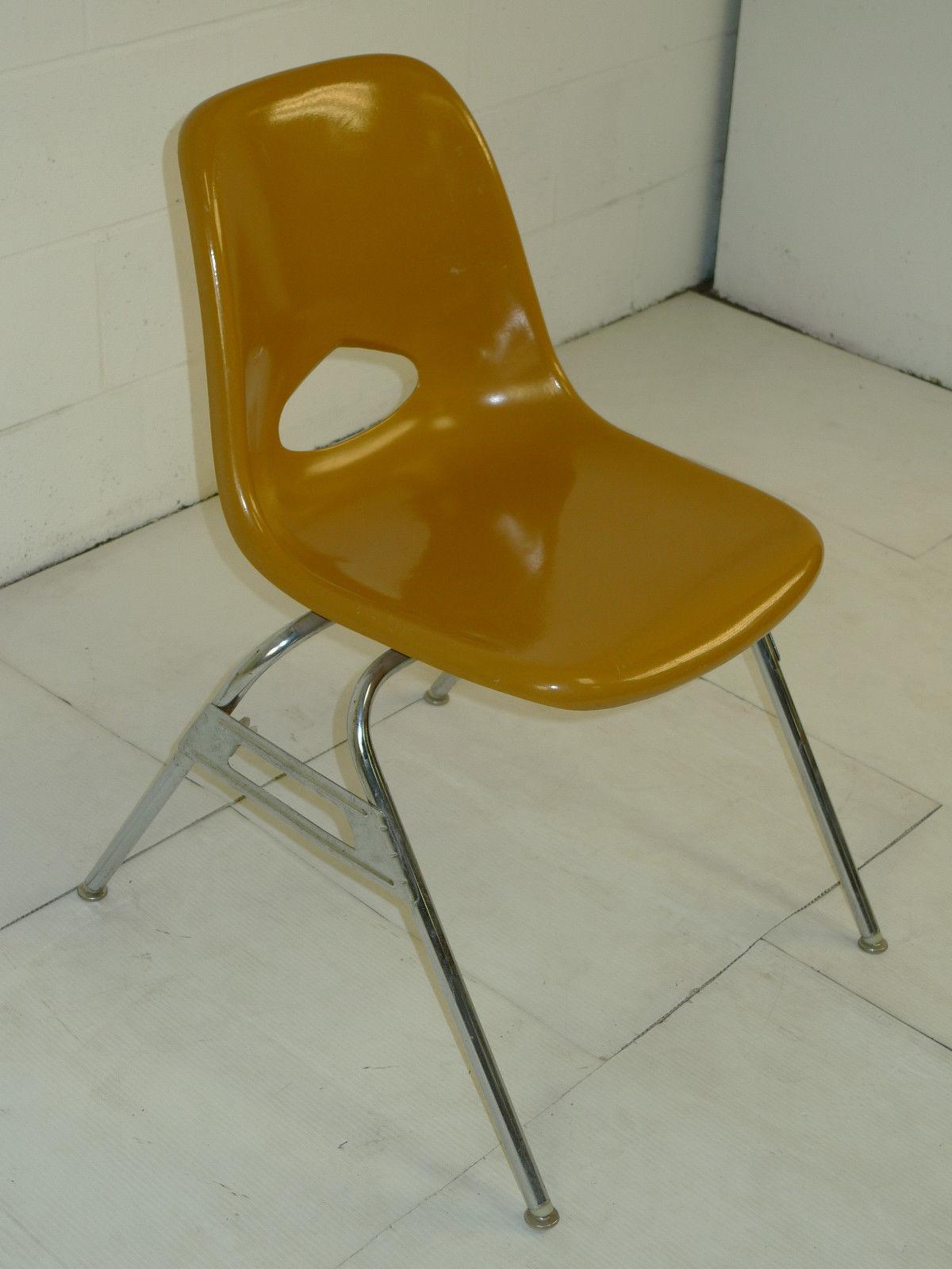 Brown Fiberglass Space Age Mid Century Modern Eames Era Chairs