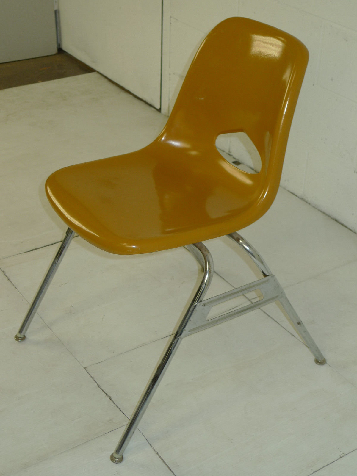 Brown Fiberglass Space Age Mid Century Modern Eames Era Chairs