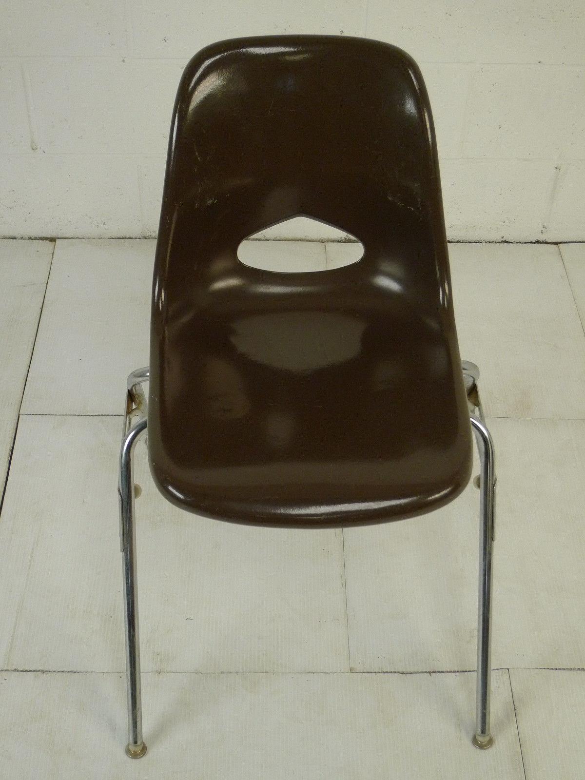Designer Furniture Sale: Brown Mid Century Modern Eames Era Krueger Fiberglass