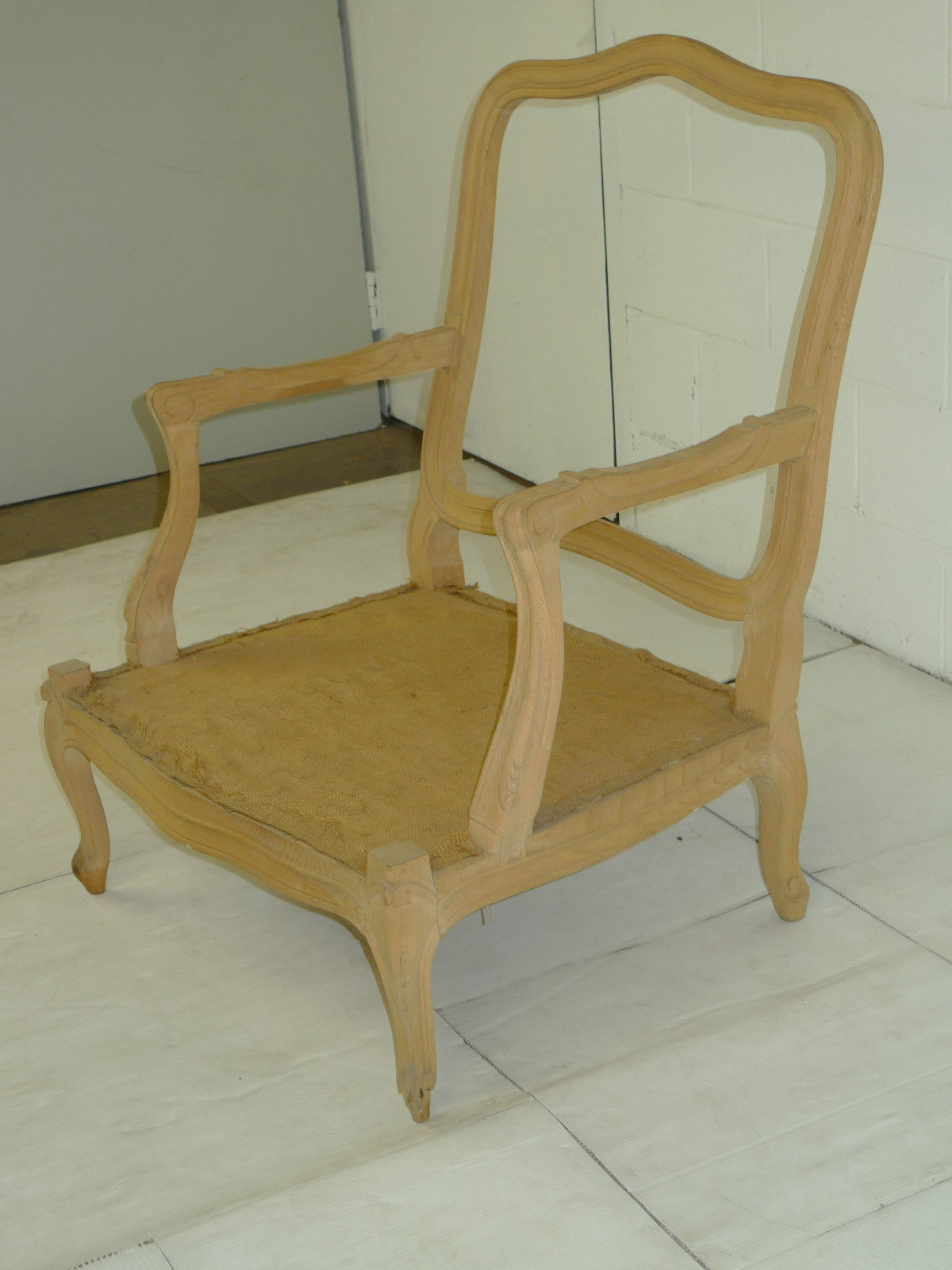 Louis Xv Provincial Style Oak Chair Frame Ready For Upholstery Louis
