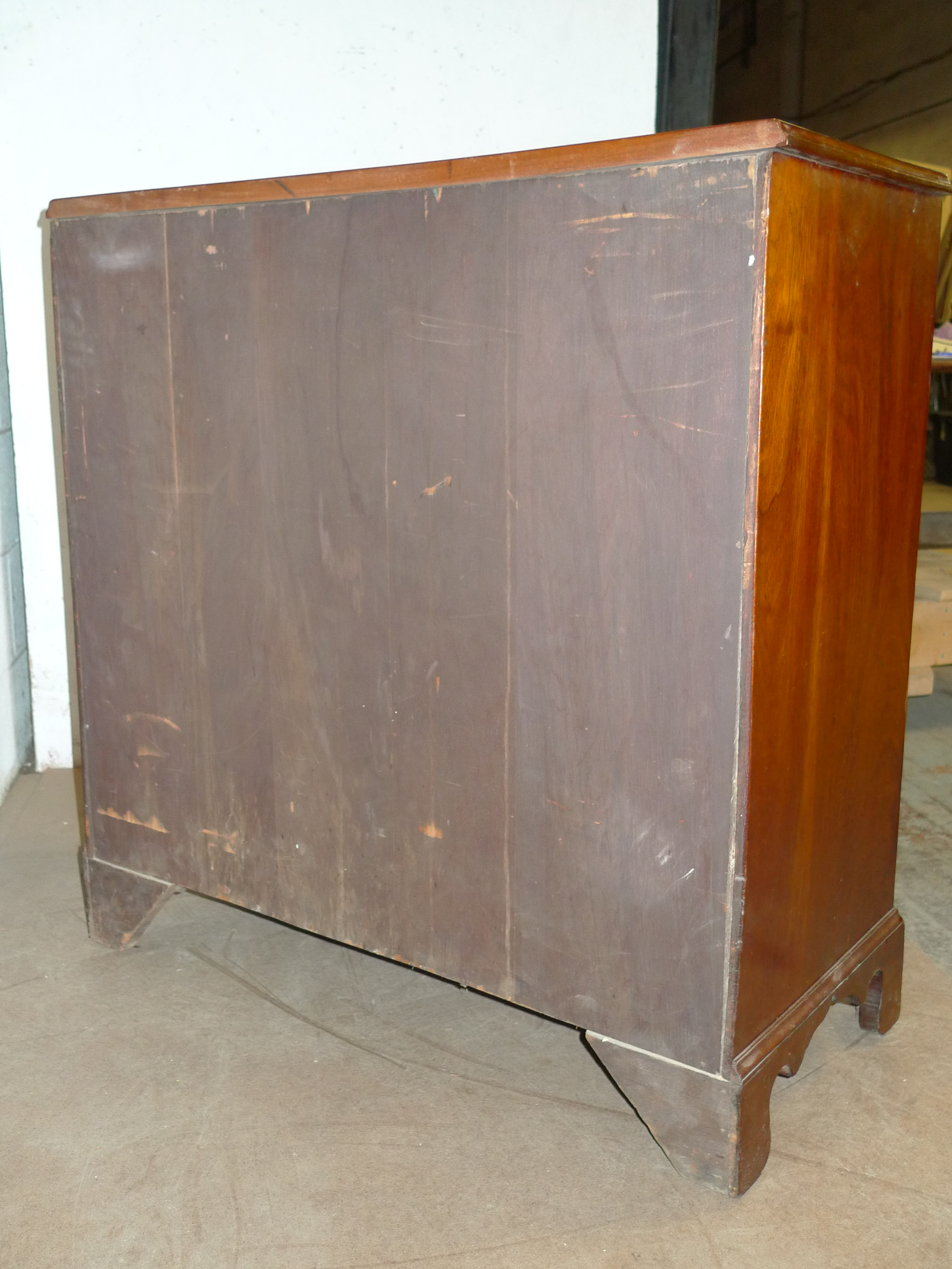Amer Federal Period Mahogany Chest 4 Drawers1790 Antique