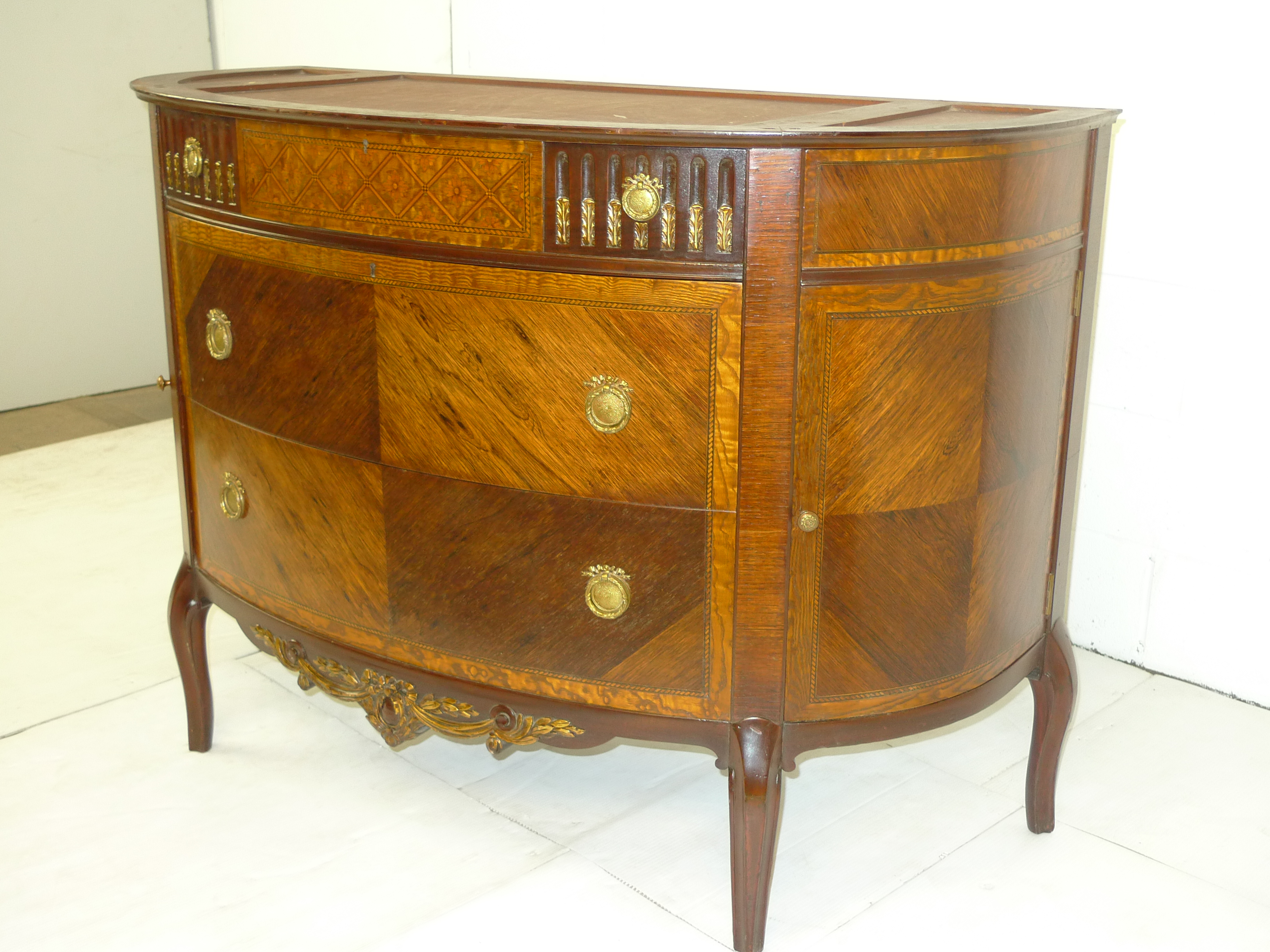 French Louis XVI style Rosewood Chest Drawers Ormolu Antique - Click Image to Close